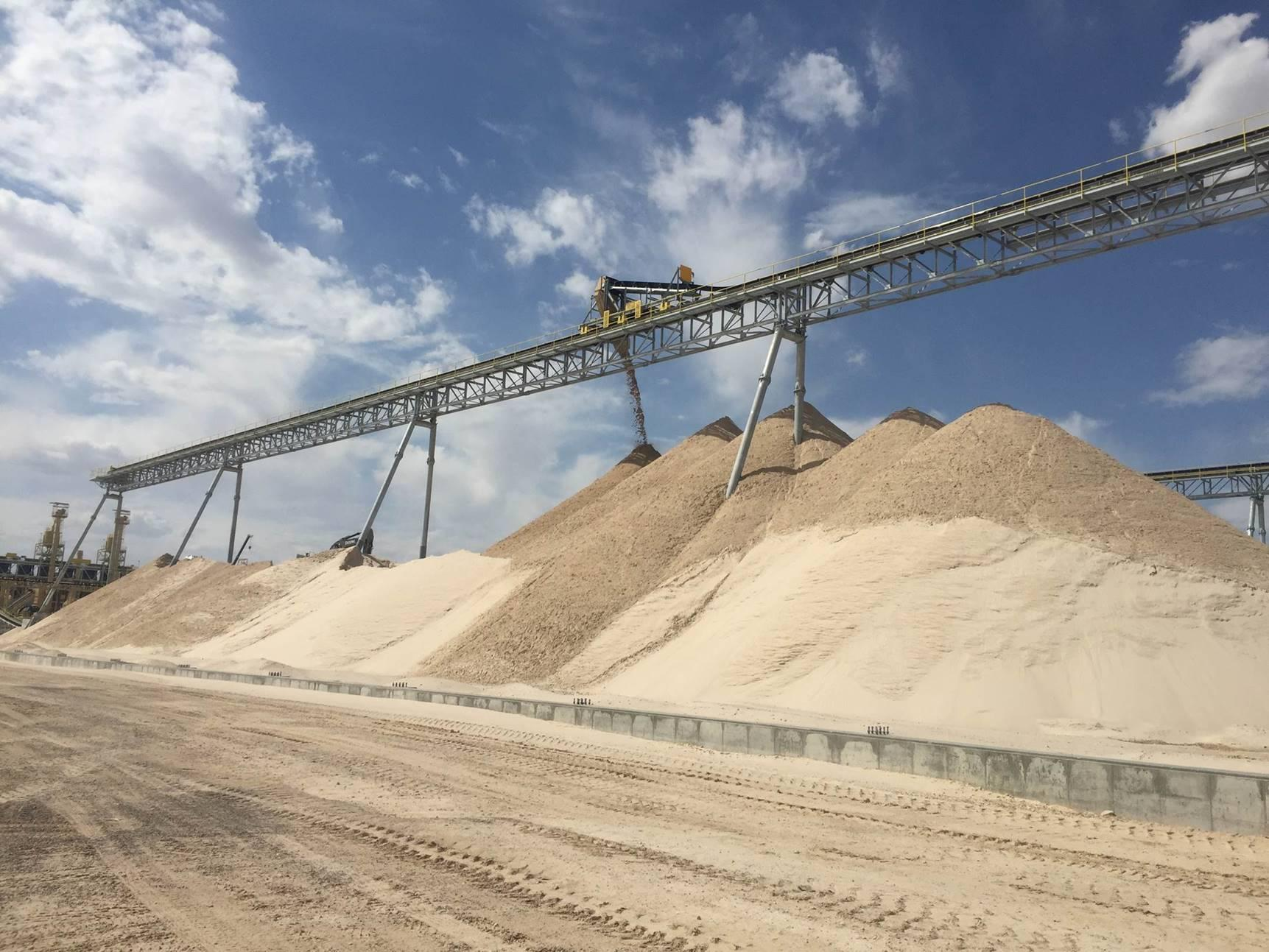 Frac Sand mining at the El Dorado Mine in the Permian Basin