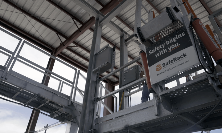 SafeRack at Black Mountain Sand's Vest Mine in the Permian Basin